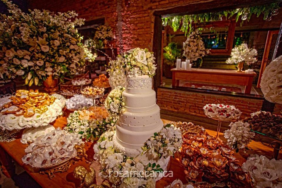 mesa do bolo casamento espaco