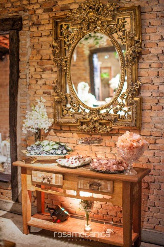 Espelho utilizado em Casamento