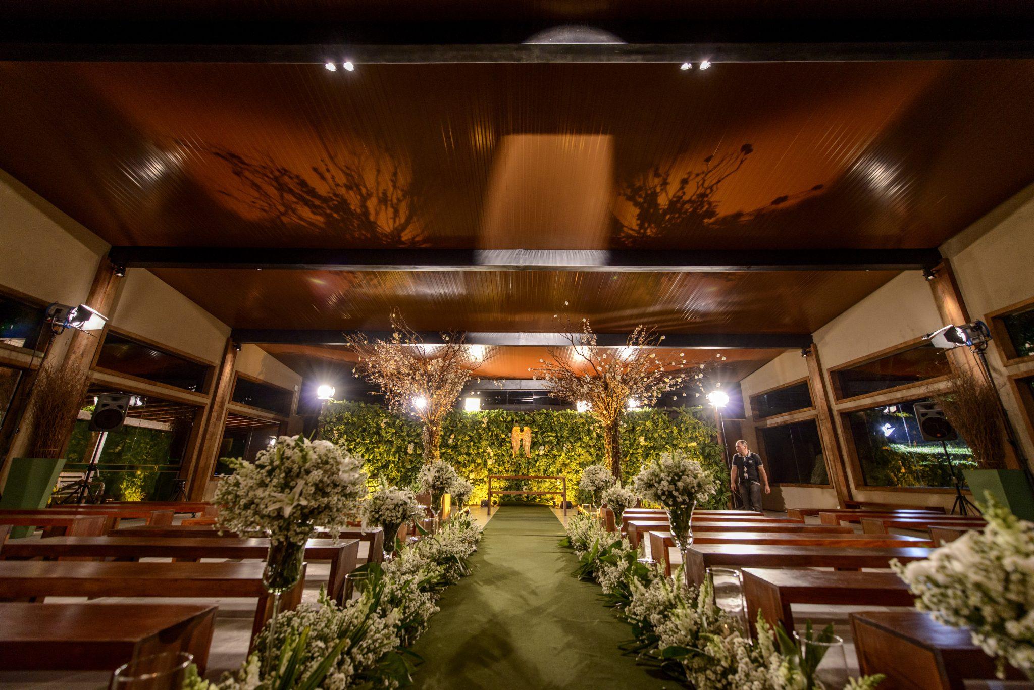 espaço de cerimônia do casamento da gretchen
