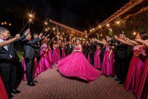 festa de quinze anos, debutante vestido rosa
